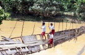 JEMBATAN INDIANA JONES: Tiga Ratusan Jembatan Gantung di Lebak Rusak Parah
