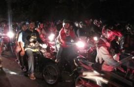 REPORTASE MUDIK LEBARAN 2014: Arus Balik Tasikmalaya-Garut Macet Total