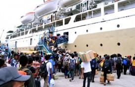 ARUS BALIK LEBARAN: Pelabuhan Penyeberangan Bakauheni Padat