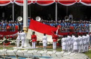 HUT KE-69 KEMERDEKAAN RI: SBY Pimpin Upacara Penurunan Bendera