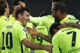 HASIL LIGA CHAMPIONS: Messi Samai Raul, Chelsea Nyangkut…