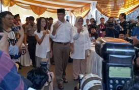QUICK COUNT PILGUB DKI 2017: Anies Pantau Hasil Hitung Cepat di DPP Partai Gerindra