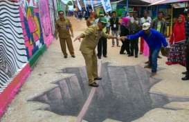 Ada Lukisan 3 Dimensi di Kampung Warna-warni Balikpapan