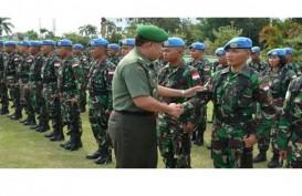 Prajurit TNI Doa Bersama di Markas FARDC di Dungu Afrika