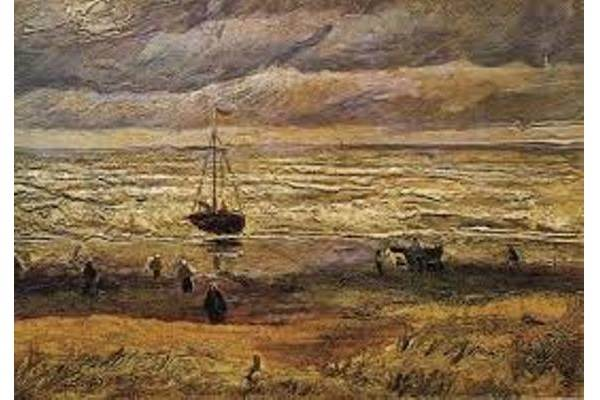 Lukisan View of the Sea at Scheveningen - art/vanGogh.com