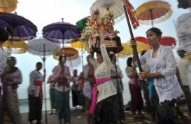 Umat Hindu Jakarta Nyepi di Pura Aditya