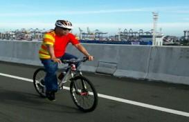 Sepeda Santai Digelar di Tol Akses Tanjung Priok