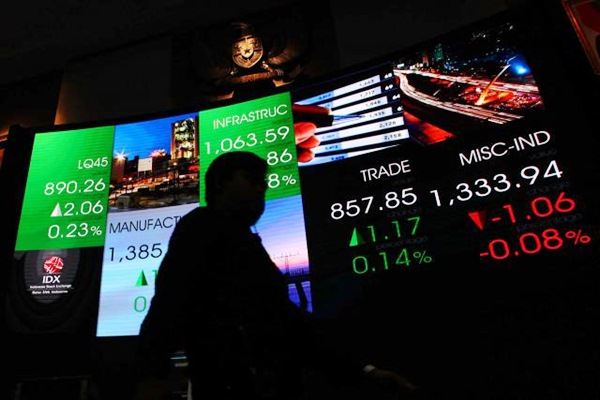 Pergerakan IHSG di gedung Bursa Efek Indonesia Jakarta. - JIBI/Dwi Prasetya