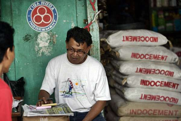 Penjualan semen PT Indocement Tunggal Prakarsa. - Bloomberg News/Dimas Ardian