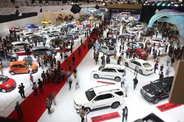 Ilustrasi suasana pameran otomotif di Jakarta - JIBI