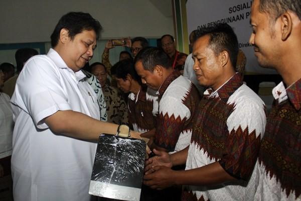 Menteri Perindustrian Airlangga Hartarto - Antara/Umarul Faruq