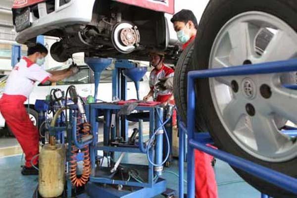 Ilustrasi aktivitas perbengkelan - Bisnis.com