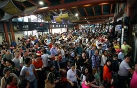 KINERJA KUARTAL I/2017: Trafik Penumpang Pesawat Melempem