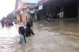 Sungai Mahakam Meluap, Banjir 90 Kampung di Kutai…