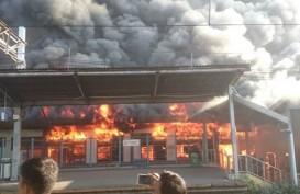 Kronologi Kebakaran Stasiun Kereta Klender