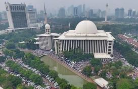 Ratusan Jamaah Takbiran di Masjid Istiqlal