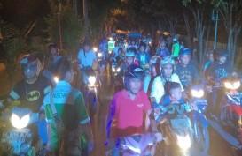Rintik-rintik Hujan Iringi Pawai Takbiran di Kota Pontianak
