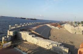 TANGGUL PENGAMAN PANTAI : Konstruksi di Kalibaru Capai 43%