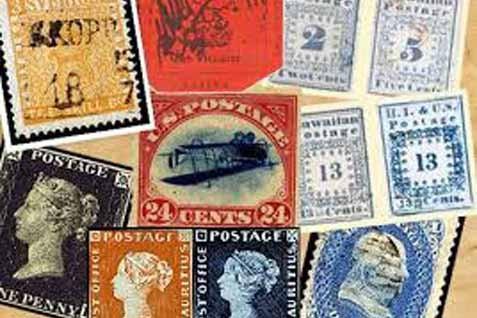 Sejumlah perangko. Ilustrasi - JIBI