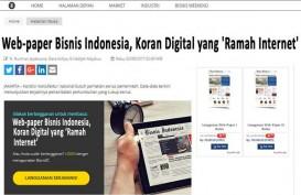 Web-paper Bisnis Indonesia, Koran Digital yang 'Ramah Internet'