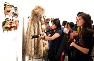 Karya Seniman Bansky Ditampilkan di Pasar Seni Art Stage Jakarta 2017