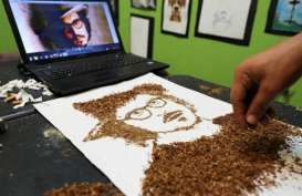 Keren, Seniman ini Gunakan Rokok untuk Karya Seninya
