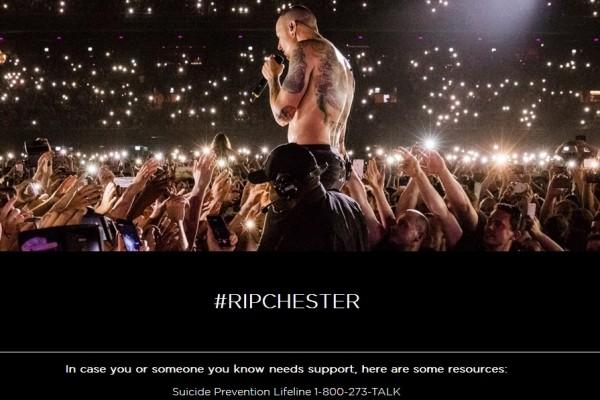 Hasil tangkap layar laman Linkin Park yang diperbarui untuk mencegah bunuh diri. - linkinpark.com