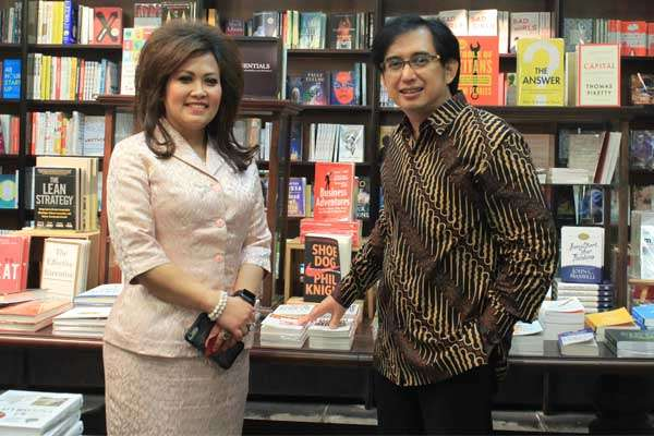 Vice Chairwoman International Relations ICSA Katharine Grace dan Chairman ICSA Hardijanto Saroso - Dika Irawan/Bisnis Indonesia