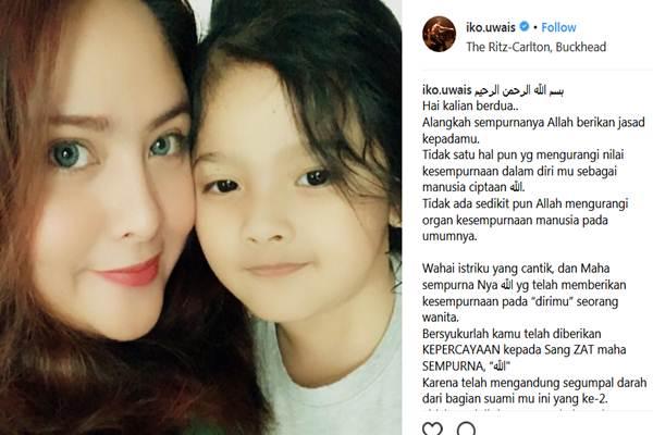 Audy Item dan anaknya - Instagram