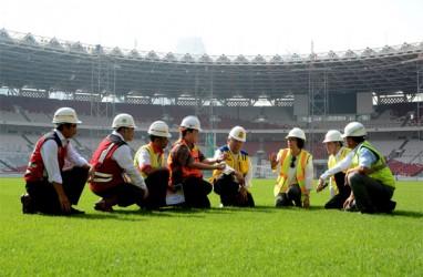 Menteri Basuki dan Menteri Sri Mulyani Cek Kesiapan Arena Olahraga di Komplek GBK