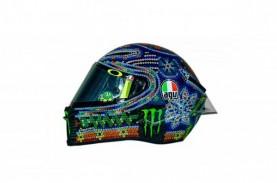 Ini Helm Unik Penuh Warna Valentino Rossi di