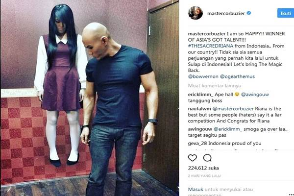 The Sacred Riana dan Deddy Corbuzier - Instagram