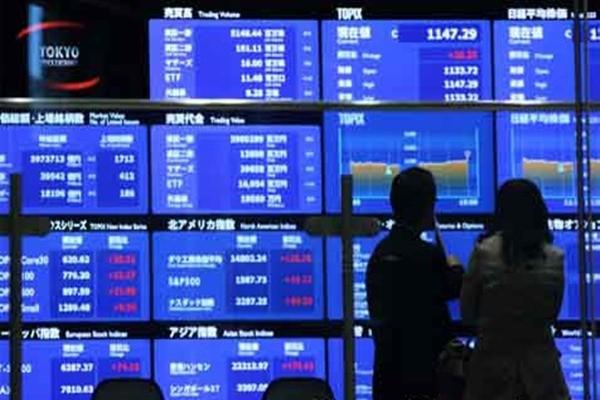 Bursa Jepang. - Ilustrasi/Bloomberg