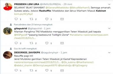 Moeldoko dan Idrus Marham Masuk Kabinet Viral di Twitter