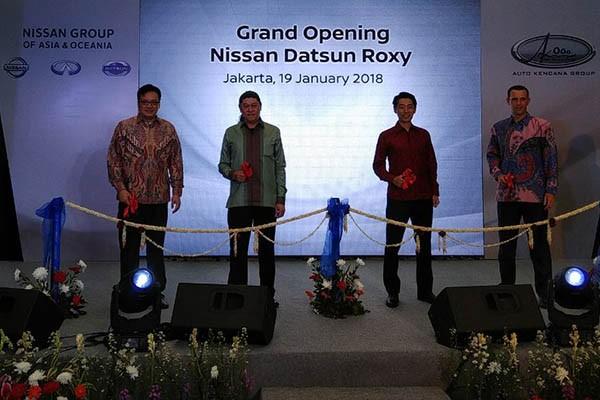 PT Nissan Motor Indonesia dan PT Auto Kencana Andalas berkerja sama membuka diler Nissan-Datsun Roxy, Jakarta, Jumat (19/1 - 2018) / BIsnis.com, Muhammad Khadafi