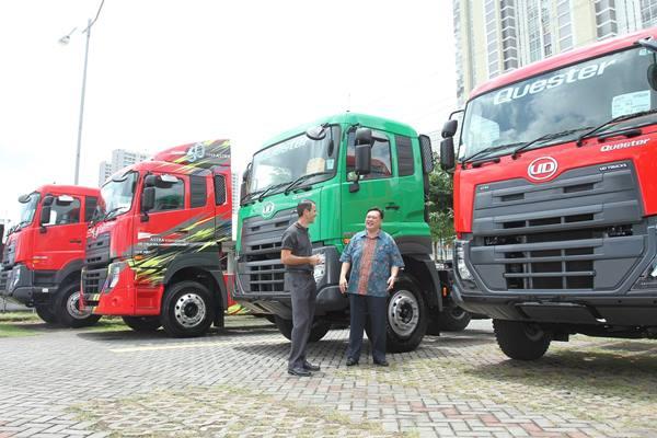 Sejumlah unit truk UD Trucks Quester. - JIBI