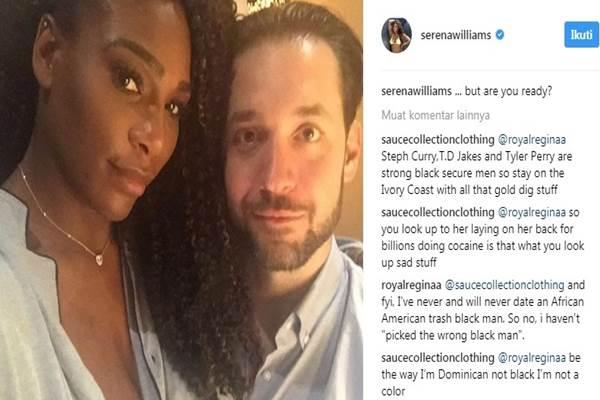 Bintang tenis Serena Williams dan Alexis Ohanian - Instagram @serenawilliams