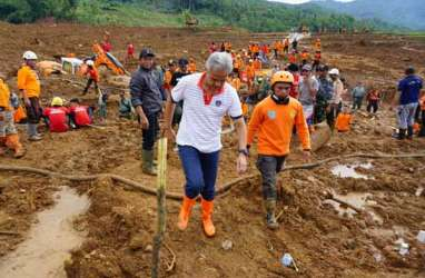 Pengungsi Longsor di Brebes Mulai Kesulitan Air Bersih