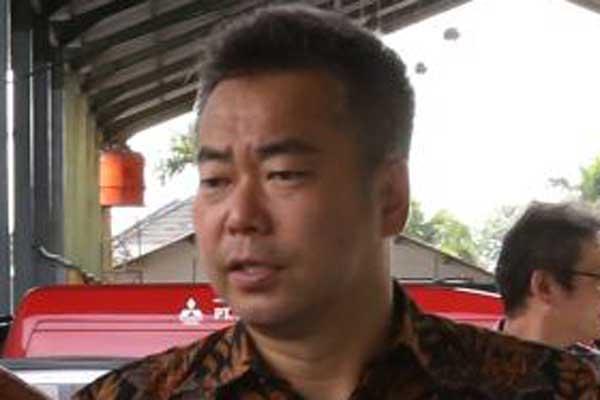 Direktur Divisi Sales & Marketing PT Mitsubishi Motors Krama Yudha Sales Indonesia (MMKSI) Osamu Iwaba.  - Bisnis.com
