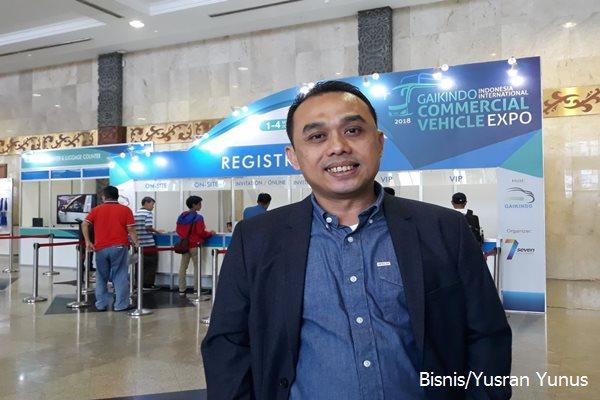 Presiden Direktur Seven Event, Romi di venue pameran GIICOMVEC 2018 di JCC Senayan Jakarta, Ahad (4/3 - 2018)