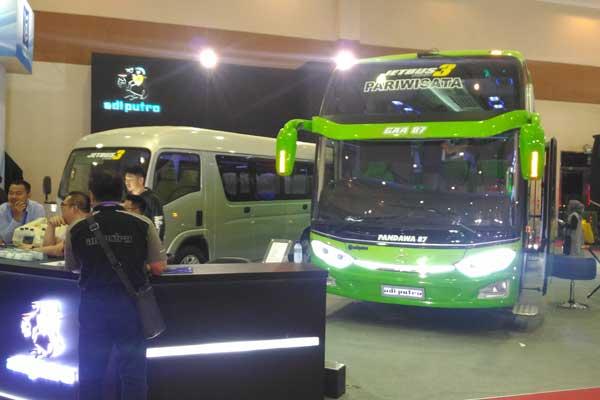 Karoseri PT Adiputro Wirasejati ikut pameran Giicomvec 2018 di JJC, 1/4 Maret. /Bisnis.com, Fatkhul Maskur