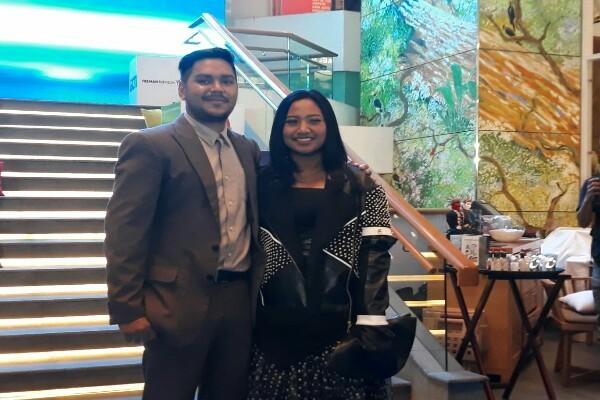 Abdul Dan Maria usai pengumuman Pemenang Indonesian Idol 2018 - Yusran Yunus