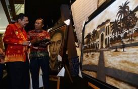 """LUKISAN : Saat Presiden Jokowi Terbuat dari Kopi. Istana Maimun """"Berasal"""" dari Abu Sinabung"""