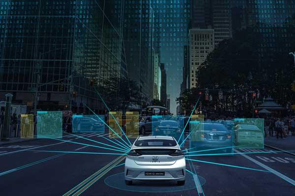 Teknologi radar generasi mendatang dapat menggunakan algoritma canggih untuk deteksi objek dan klasifikasi.  - Hyundai