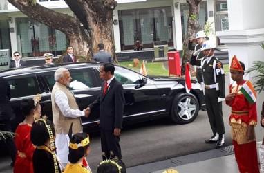 Presiden Jokowi Terima Kedatangan PM India Narendra Modi di Istana Merdeka. Ini Sejumlah Fotonya