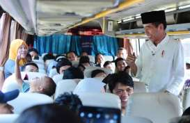 Presiden Jokowi Sapa Pemudik di Terminal Bus Baranangsiang Bogor