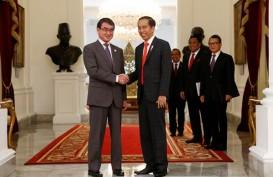 Menlu Jepang Kunjungi Presiden Jokowi di Istana Merdeka