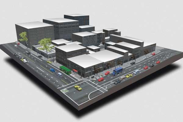 Platform simulasi Cognata secara virtual menciptakan kembali kota-kota dunia nyata.  - Cognata