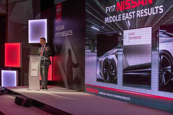 Juergen Schmitz, Managing Director of Nissan Middle East.  - Nissan