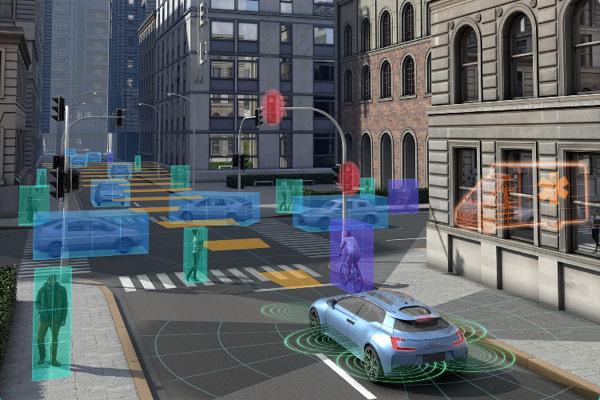 Dalam kendaraan berawak, sistem V2X menyampaikan informasi penting kepada pengemudi, adapun dalam kendaraan otonom, V2X melengkapi sensor.  - Autotalks